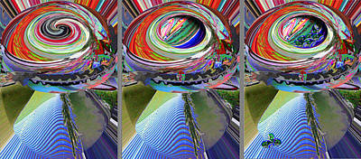 Land Scape Digital Art - Mushroom Eggspectancy by Beverly Kimble Davis