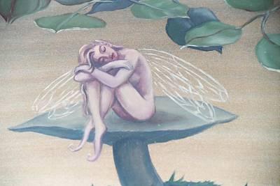 Mushroom Faerie Art Print