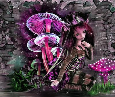 Digital Art - Mushroom Fairy by Artful Oasis