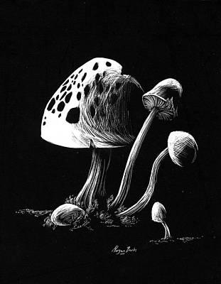 Mushroom Patch Art Print by Morgan Banks