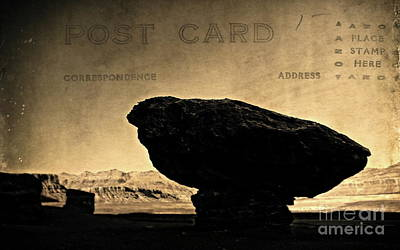 Digital Art - Mushroom Rock Postcard by Tim Richards