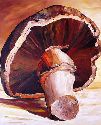 Mushrooms Wall Art - Painting - Mushroom Still Life by Toni Grote