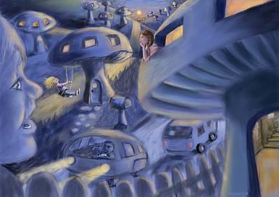 Digital Art - Mushroom Town by Larry Whitler