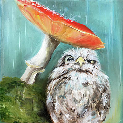 Painting - Mushroom Umbrella by Ashley Martinez