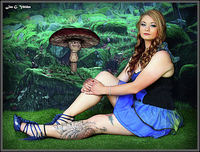 Photograph - Mushrooms And The Maiden by Jon Volden