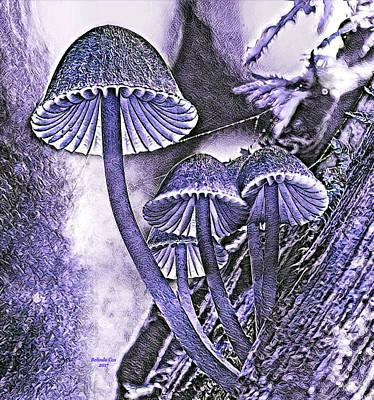 Digital Art - Mushrooms  by Artful Oasis
