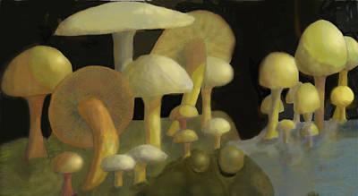 Digital Art - Mushrooms by Ian  MacDonald