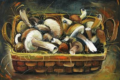 Painting - Mushrooms by Mikhail Zarovny