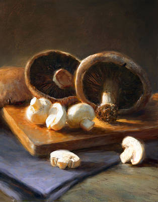 Vegetables Wall Art - Painting - Mushrooms by Robert Papp