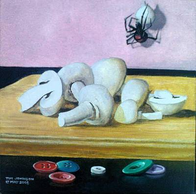Painting - Mushrooms by Tim Johnson