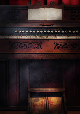 Music - Organist - Do Not Mortgage The Farm Art Print by Mike Savad