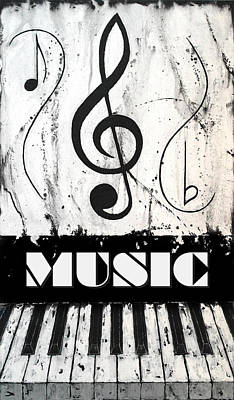 Music 1- Music In Motion Art Print by Wayne Cantrell
