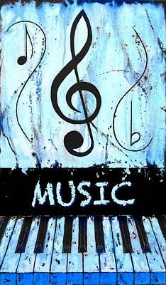 Music 17 Blue Art Print