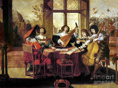 Music, 17th Century Art Print