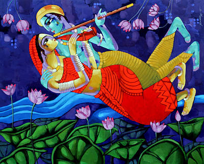 Painting - Music 2 by Sekhar Roy