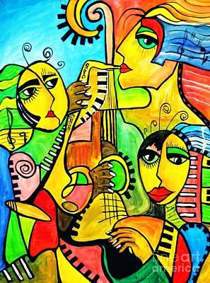 Painting - Music 4293 by Marek Lutek