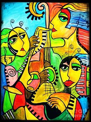 Painting - Music 4294 by Marek Lutek