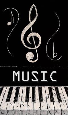 Music 7 Art Print by Wayne Cantrell