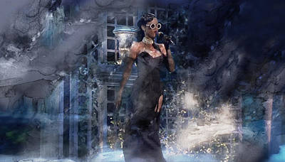 Rihanna Painting - Music 776 by Jani Heinonen