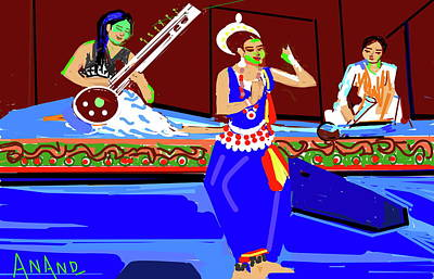 Digital Art - Music And Dance Concert by Anand Swaroop Manchiraju