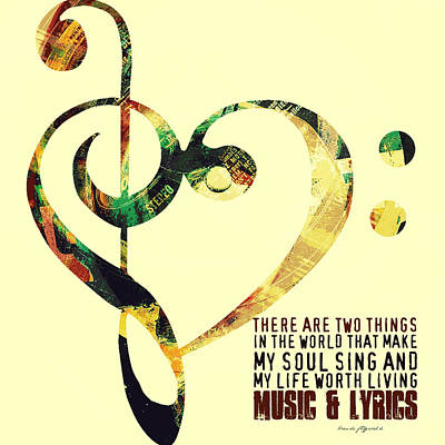 Music And Lyrics V1 Art Print by Brandi Fitzgerald