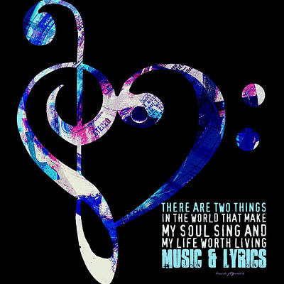 Music And Lyrics V2 Art Print by Brandi Fitzgerald