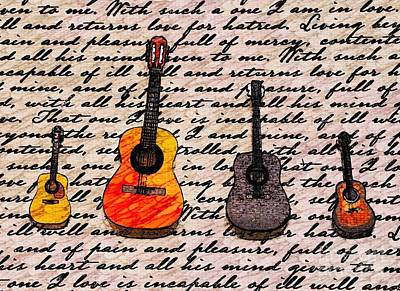 Music And Poetry By Jasna Gopic Art Print