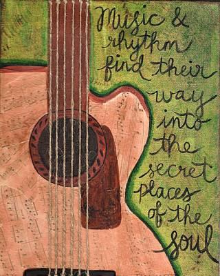 Music And Rhythm Art Print by Monica Martin