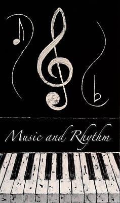 Music And Rhythm Art Print by Wayne Cantrell