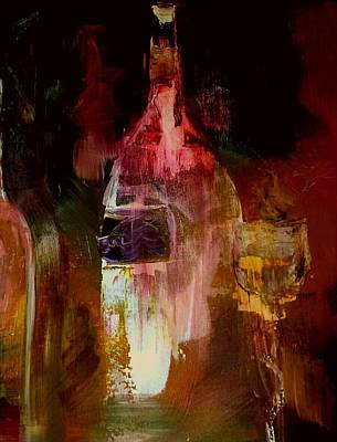 Wine Painting - Music And Wine by Lisa Kaiser