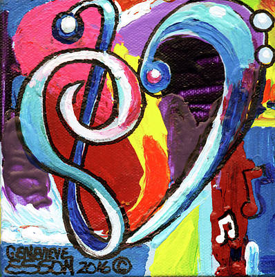 Painting - Music Art With Heart by Genevieve Esson