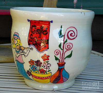 Ceramic Art - Music At Cafe Aroma by Lisa Dunn