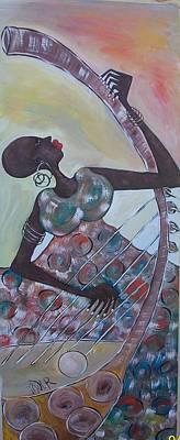 Portrate Painting - Music At Dawn by Tindimwebwa Ronald chris