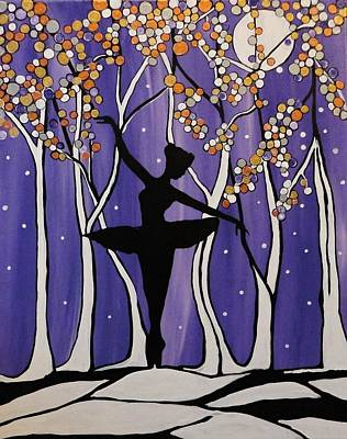 Snow Covered Ground Painting - Music Box Dancer by Rachel Olynuk