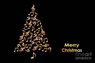 Musicians Photo Royalty Free Images - Music christmas card Royalty-Free Image by Delphimages Photo Creations