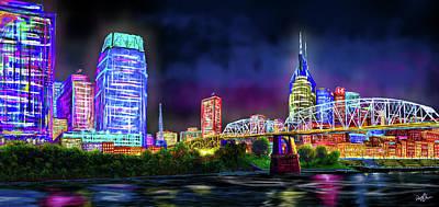 Digital Art - Music City by Don Olea
