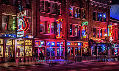 Photograph - Music City Lights by Andy Crawford