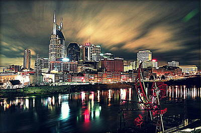 Music City Midnight Art Print