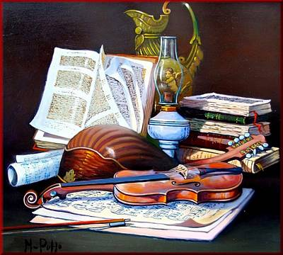 Contempory Art Galleries In Italy Painting - Music Composition by Puppo