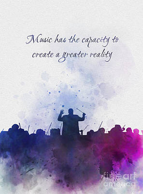 Mixed Media - Music Creates A Greater Reality by Rebecca Jenkins