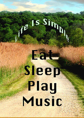 Photograph - Music Eat Sleep Play Music 5506.02 by M K Miller