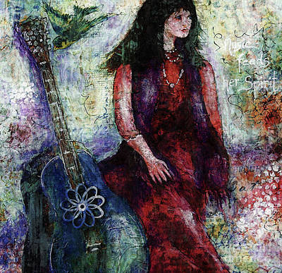 Digital Art - Music Feeds Her Spirit Too by Claire Bull