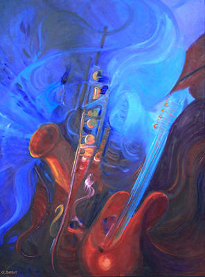 Santana Painting - Music For Saxy by Gail Salitui