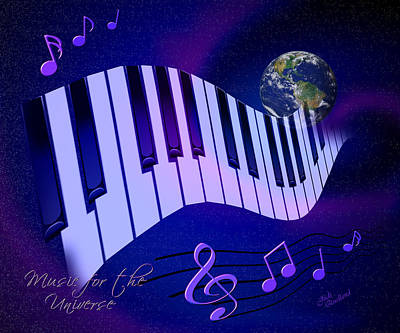 Music For The Universe Print by Judi Quelland