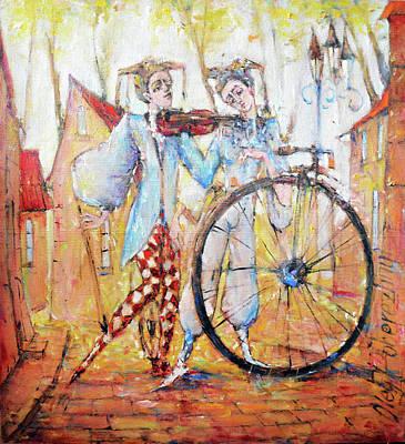 Painting - Music For You by Oleg Poberezhnyi