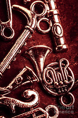Musical Instrument Photograph - Music From The Red Room by Jorgo Photography - Wall Art Gallery
