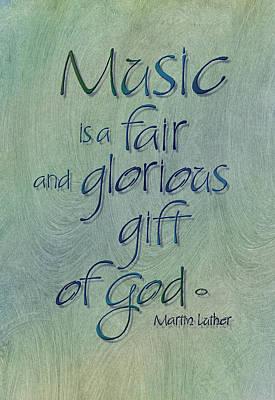 Music Gift Art Print by Judy Dodds
