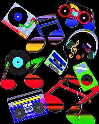 Music Ipod Digital Art - Music Graphic by Steve Ohlsen