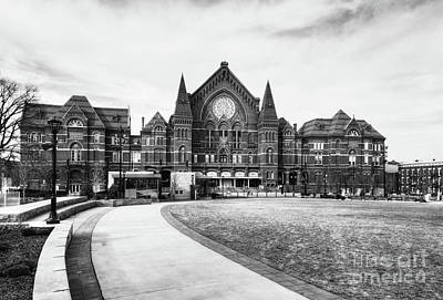 Photograph - Music Hall In Cincinnati Bw by Mel Steinhauer