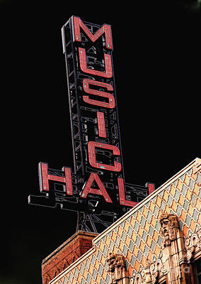 Music Hall Sign Art Print